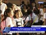 Students, parents warned vs heavy school bags