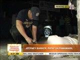 Jeepney barker shot dead in Payatas