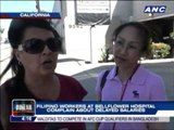 Filipino nurses in California complain about delayed salaries