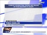 Comelec holds final PCOS testing in Legazpi