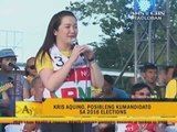 Kris campaigns for Grace, Chiz in Tacloban