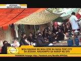 Saudi OFWs' kin hold camp outside DFA