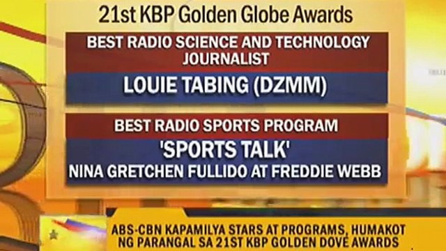 ABS-CBN shows win big at KBP Golden Dove Awards