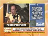 Punto por Punto: Height requirement sa mga pulis, iginiit ni PNoy
