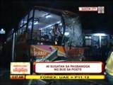 Bus slams into Commonwealth flyover post; 40 hurt