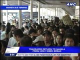 Vacation over: Travelers clog bus terminals