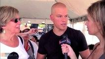 Matt Damon Channels Will Hunting on TV Reporter