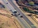 Phoenix Arizona Bank Robber Car Crash.