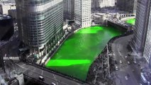 2014 Dyeing the Chicago River Green for St. Patricks Day - Time-lapse
