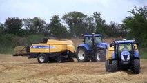 2 x New Holland Balers Baling Barley Straw Harvest 2011 Barry Fennin