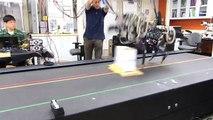 MIT Robotic Cheetah- Robotic Cheetah Jumping Over the Blocks