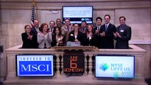 NYSE Liffe U.S. mini MSCI Index Futures Completes Year of Strong Growth rings the NYSE Closing bell