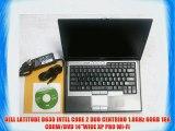 DELL LATITUDE D630 INTEL CORE 2 DUO CENTRINO 1.8GHz 60GB 1GB CDRW/DVD 14WIDE XP PRO WI-FI