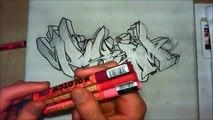 """Wildstyle graffiti speed drawing... commenté ! :D // graff sur toile (Canvas) """"PSYM"""" [HD]"""