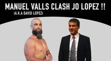 "Parodie "" Clash des Gitans "" Manuel Valls (alias David Lopez) Clash Joe Lopez en meeting "" Clash of gitan """