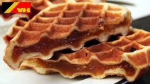 Belgian Waffle with Fruit Filling by the Belgian Waffle Iron Store