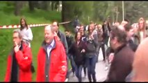 Bilderberg Members Confronted by Protesters Outside Security Perimeter