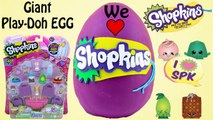 SHOPKINS Giant Play Doh Surprise Eggs | Shopkins Blind Bags Shopkins 12 Pack - Awesome Toys TV