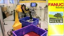 Engine Assembly Robots - FANUC Robot Industrial Automation - video
