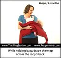 Wrap Instructions: Front Wrap Cross (While Holding Baby)