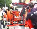 HV 3 Brandweer Ede en meer hulpdiensten aankomend bij tweede DEMO tijdens opendag Ede