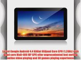IRULU 10.1 inch Android Tablet PC 4.4 KitKat OS Quad Core CPU Dual Cameras 5 Point Capacitive
