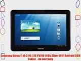 Samsung Galaxy Tab 2 10.1 3G P5100 16Gb Silver WiFi Android GSM Tablet  - No warranty