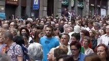 """Multitudinaria marcha de los """"indignados"""" en Barcelona"""