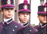 Scuola Militare Teuliè. Consegna dello spadino per la prima volta a tredici ragazze
