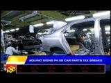 Aquino signs P4.5-B car parts tax breaks