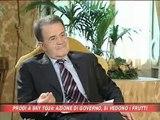 """Prodi a Berlusconi: """"continua così"""""""