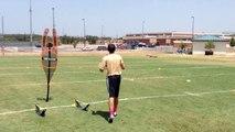 Yale Vannoy Quarterback Academy - Jonathan McEntire - College Football Recruitment Drill Video