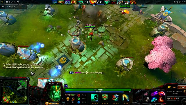 Dota 2 : [IGv2]Lone Playing Wraith King [King vs Pudge+Drow Ranger+PA+Wind Ranger]