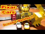 Disney Pixar Cars Screaming Banshee Catching Porsche Race Cars from Slot Track Races