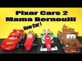 Pixar Cars2 New Car Unboxing, Mama Bernoulli, with Lightning , Mater, Francesco and Mack