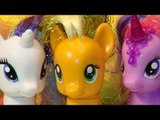 My Little Pony new Pony unboxing APPLEJACK Rainbow Power at the Cotton Candy Cafe with Pinkie Pie an