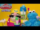 Play Doh Sweet Shoppe Ice Cream for Cookie Monster Count n' Crunch and Wario