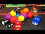 Play Doh Surprise Eggs Pixar Cars Lightning McQueen in Lizzies Post Card Hunt with Play Doh Surprise