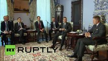 Russia: Medvedev and Slovak PM Robert Fico talk bilateral ties
