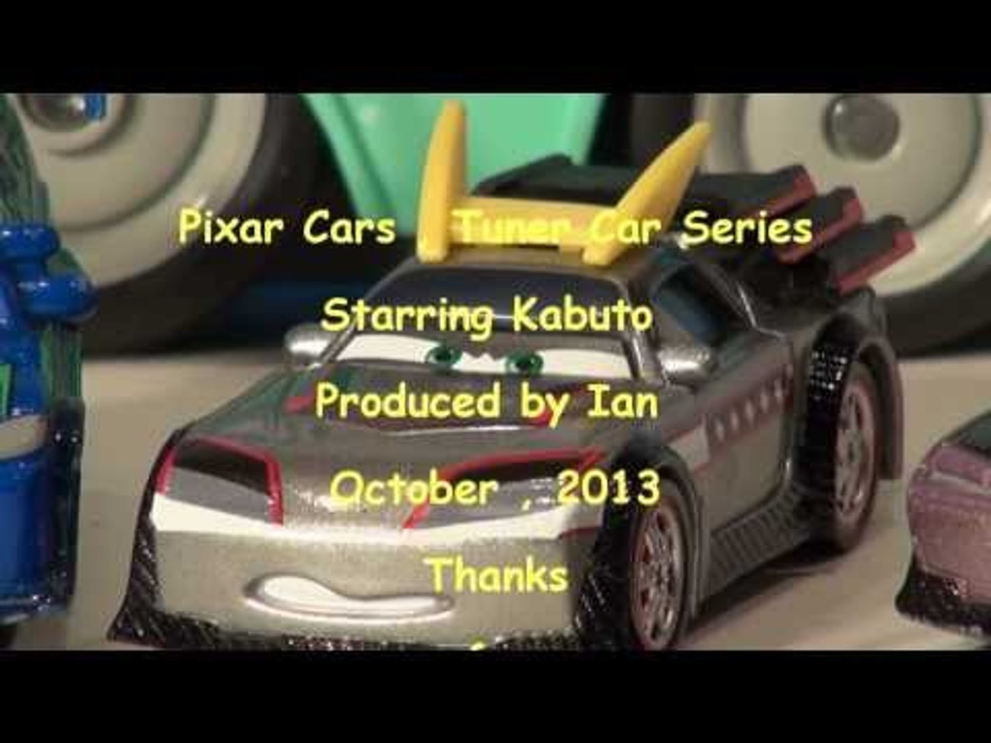 Pixar Cars with Kabuto from the Tuner Series, with Boost DJ and Wingo