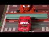 Pixar Cars , a re-enactment of how Lightning discovers who Doc Hudson really is, the Incredible Huds