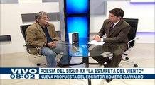 """Homero Carvalho presenta """"La Estafeta del Viento"""", antología de poesía boliviana"""