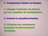 Diviser une fraction et la fraction d'une fraction