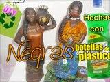 Negras Africanas Porcelana Fría y Botellas plásticas PET RECICLADO, Cerámica,Pasta moldeable,Pintura