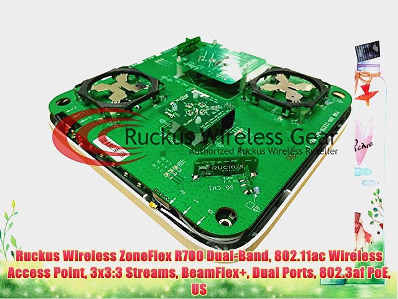 Ruckus Wireless ZoneFlex R700 Dual-Band 802 11ac Wireless Access Point  3x3:3 Streams BeamFlex