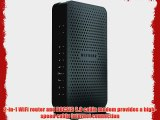 Netgear N600 WiFi Cable Modem Router with Air Duster Patch Cable and Cable Ties Bundle