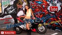Stunt Riding Motorcycle Kawasaki 636 ZXR Street Bike   Lovely Loud Exhaust Sound
