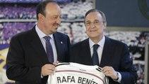 Les larmes de Rafael Benitez pendant sa présentation