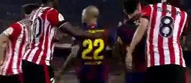 Neymar s Mad Skills In Copa Del Rey Final Make Athletic Bilbao Players Angry