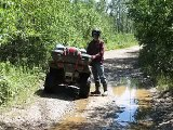 Quadding sudbury Ontario to gogama atv quad run
